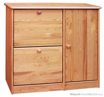 dřevěný botník z masivního dřeva borovice drewfilip 9