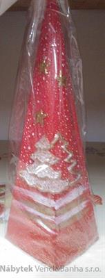 vánoční dekorace dekorativní ozdobená svíčka velká skladem