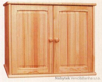 dřevěná kuchyňská skříňka horní z masivního dřeva borovice drewfilip 13