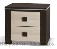 moderní noční stolek z dřevotřísky Euforia ESTNOCgib jasan
