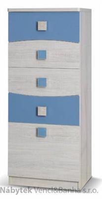 moderní komoda z kolekce Tenus TK5SZ modrá gib