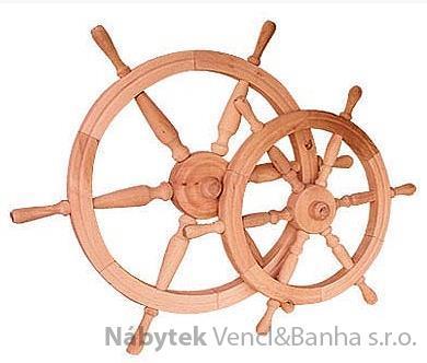 dřevěná závěsná dekorace námořnické kormidelní kolo ster malé z masivního dřeva drewfilip 24