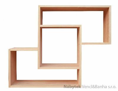 dřevěná polička z masivu Mango VIII drewm