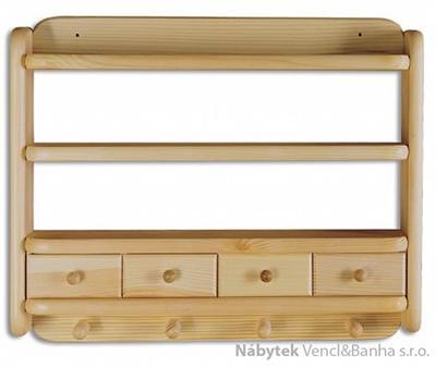dřevěná závěsná polička z masivního dřeva borovice PK118 pacyg