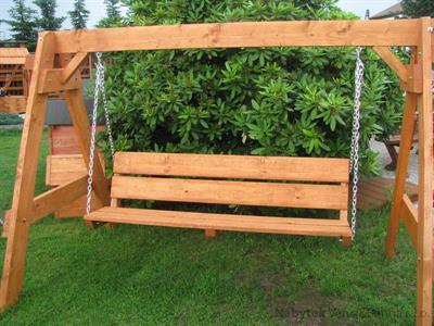 dřevěná zahradní houpačka Zwykla 3 botodr