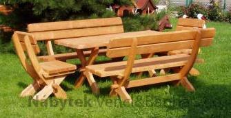 dřevěný zahradní nábytek set Bawarski 1+2+2 drewbo