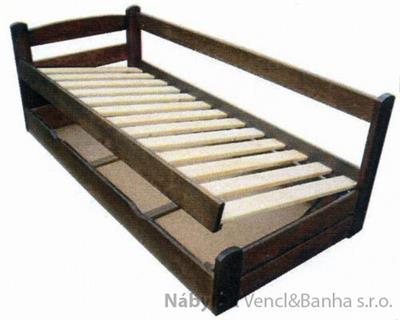 Dřevěná postel s úložným prostorem Grand Prix chalup