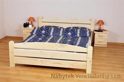 dřevěná dvojlůžková postel Kasia maršal
