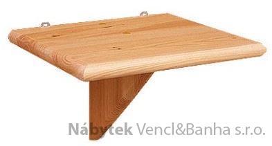 dřevěná závěsná polička z masivního dřeva borovice drewfilip 64