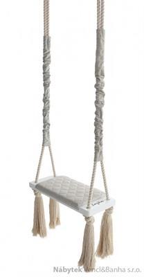 dětská dřevěná závěsná houpačka, polstrovaná Wood Swing ecri babysteps