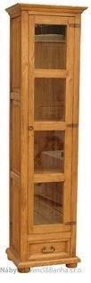 dřevěná rustikální vitrína stylová z masivního dřeva borovice Mexicana VIT06 1/2 euromeb