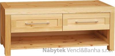 moderní dřevěný televizní stolek RTV z masivního dřeva Del Sol drewfil 14