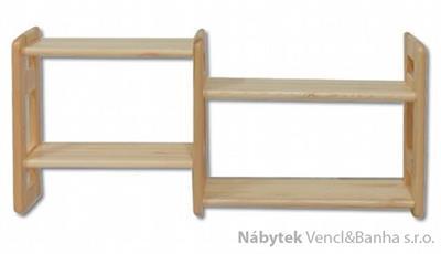 dřevěná závěsná polička z masivního dřeva borovice PK104 pacyg