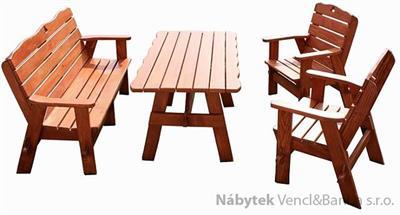 dřevěný zahradní nábytek set Jedrzej10 1S+1L+4K  euromeb 10