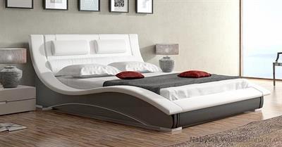 dvoulůžková čalouněná manželská postel Lapas 160 chojm