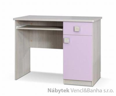 moderní psací stolek z dřevotřísky Tenus T biurko fialový gib