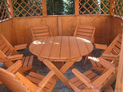 dřevěný zahradní nábytek vencl set 1+6 Skladany 3 botodre