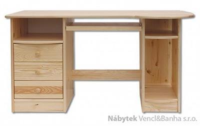 dřevěný psací stůl, PC stolek z masivního dřeva BR102 pacyg