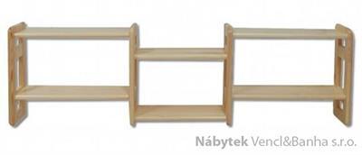 dřevěná závěsná polička z masivního dřeva borovice PK103 pacyg