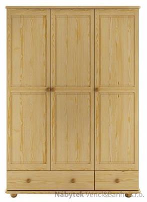 dřevěná šatní skříň z masivního dřeva borovice SF121 pacyg