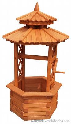 dřevěná zahradní dekorační studna STU14 pr.70 jandr