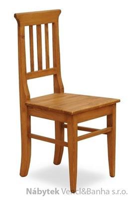 dřevěná rustikální stylová jídelní židle z masivního dřeva borovice Mexicana D22 euromeb