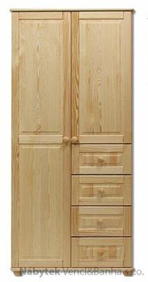dřevěná šatní skříň z masivního dřeva borovice SF109 pacyg
