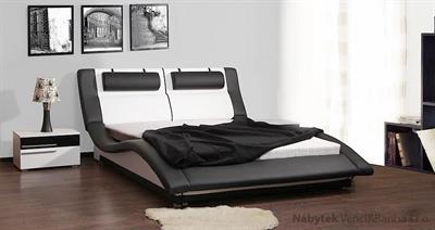 dvoulůžková čalouněná manželská postel Domino 160 chojm