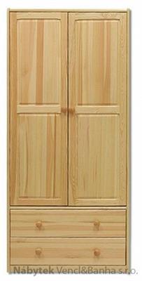 dřevěná šatní skříň z masivního dřeva borovice SF111 pacyg