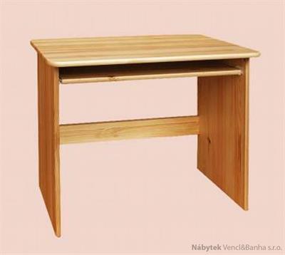 dřevěný psací stůl PC stolek z masivního dřeva drewfilip 5
