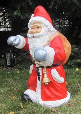 zahradní dekorace z polyesteru Santa Claus Z6 welt