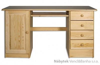 dřevěný psací stůl, PC stolek z masivního dřeva BR115 pacyg