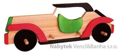 dekorace dětský věšák autíčko met 26501