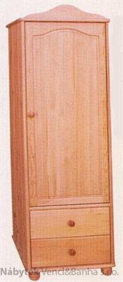 šatní skříň jedno dvířková z masivního dřeva borovice drewfilip 21 Szafa I 1D/2S bieliźniarka