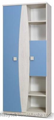 moderní regál z kolekce Tenus TR80 modrý gib