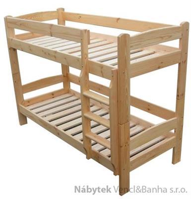 patrová postel z masivu, palanda Tytan chalup