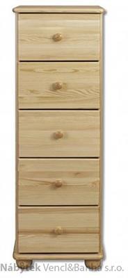 dřevěná komoda, prádelník z masivního dřeva borovice KD116 pacyg