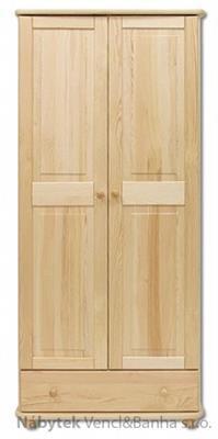 dřevěná šatní skříň z masivního dřeva borovice SF102 pacyg