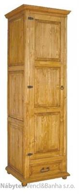 dřevěná stylová jedno dvířková šatní skříňVIT08 d1euromeb