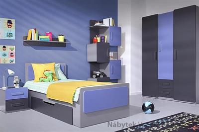 moderní dětský pokoj, studentský pokoj  z dřevotřísky Lido 11 gib