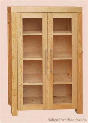 moderní dřevěná vitrína z masivního dřeva II 2D Del Sol drewfilip 22