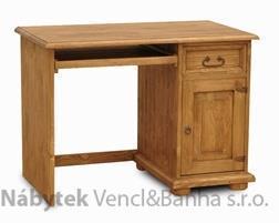 dřevěný rustikální stylový PC stolek z masivního dřeva borovice Mexicana D38 euromeb
