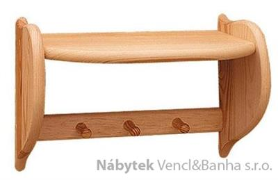 dřevěná závěsná kuchyňská polička z masivního dřeva borovice drewfilip 56