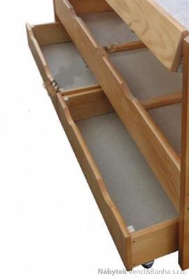 dřevěný úložný prostor, 2x šuple pod postel 140x200 cm chalup