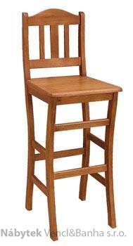 dřevěná barová jídelní židle z masivního dřeva borovice drewfilip 10
