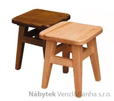 dřevěný taburet z masivního dřeva borovice drewfil 14