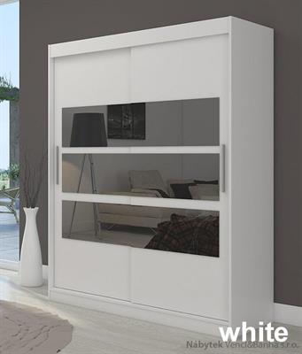 moderní šatní skříň zrcadlová s posuvnými dvířky Florento adrk