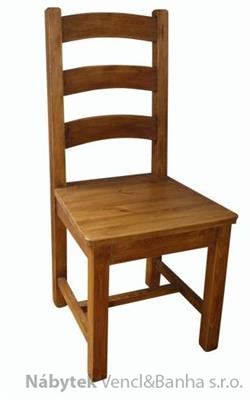 dřevěná rustikální stylová jídelní židle z masivního dřeva borovice Mexicana D24 euromeb