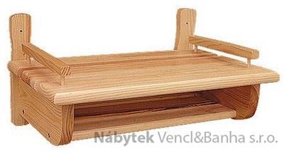 dřevěná závěsná polička z masivního dřeva borovice drewfilip 49
