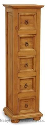 dřevěná rustikální stylová komoda z masivního dřeva borovice Mexicana ACC37 euromeb